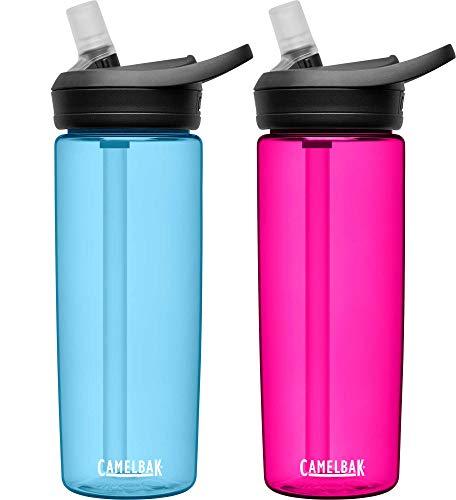 CamelBak eddy+ BPA Free Water Bottle, 20 oz, 2-Pack, True Blue / Deep Magenta