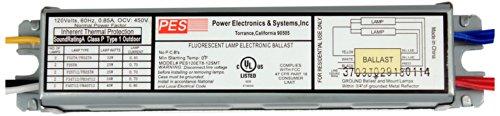 PES 2 Lamps Fluorescent Electronic Ballast, 120V, # PES120ET8-12SMT