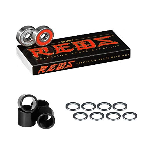 Bones Bearings Reds Bearings (8 pack W/Spacers and Washers)