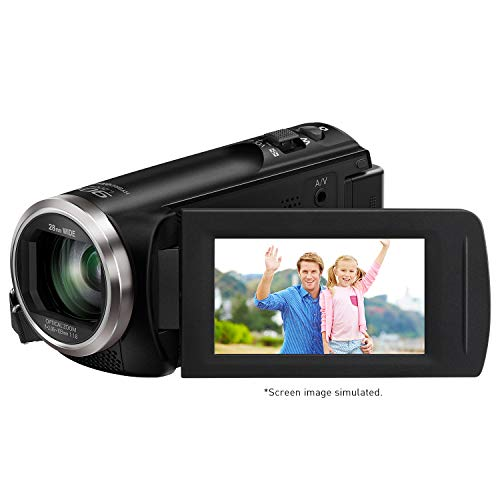 Panasonic Full HD Video Camera Camcorder HC-V180K, 50X Optical Zoom, 1/5.8-Inch BSI Sensor, Touch Enabled 2.7-Inch LCD Display (Black)