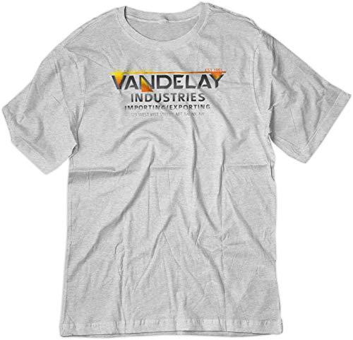 BSW Men's Parody Vandelay Industries Seinfeld George Costanza Shirt Ash LRG