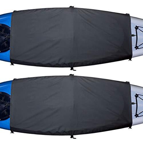 Explore Land Universal Kayak Cockpit Drape Waterproof Seal Cockpit Cover for Indoor and Outdoor (2 Pack Regular, 44 x 28 inch)