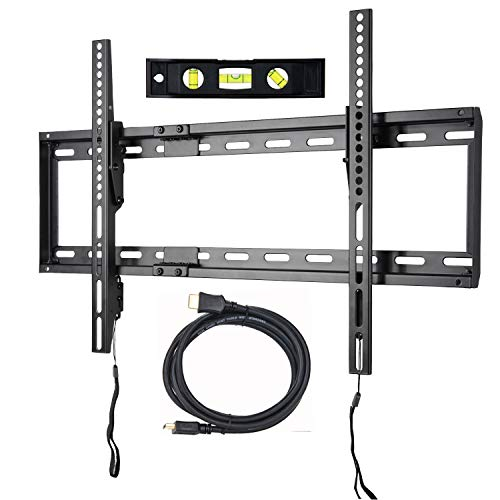 VideoSecu Mounts Tilt TV Wall Mount Bracket Compatible Most 23'- 75' Samsung, Sony, Vizio, LG, Sharp LCD LED Plasma TV with VESA 100x100 400x400 up to 684x400mm, Bonus HDMI Cable and Bubble Level MF608B2 WT1