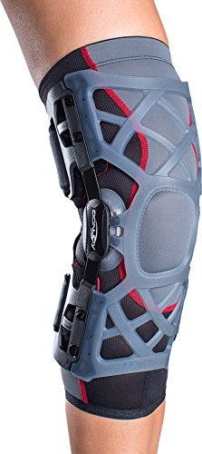 DonJoy OA (Osteoarthritis) Reaction Web Knee Support Brace: Medial Right/Lateral Left, X-Large