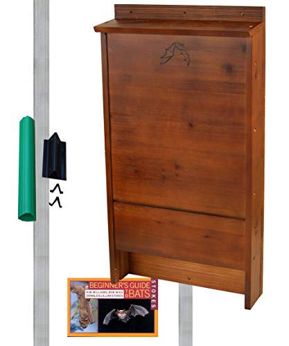 BestNest Premium Stained Bat House Kit with Pole, 100 Bats