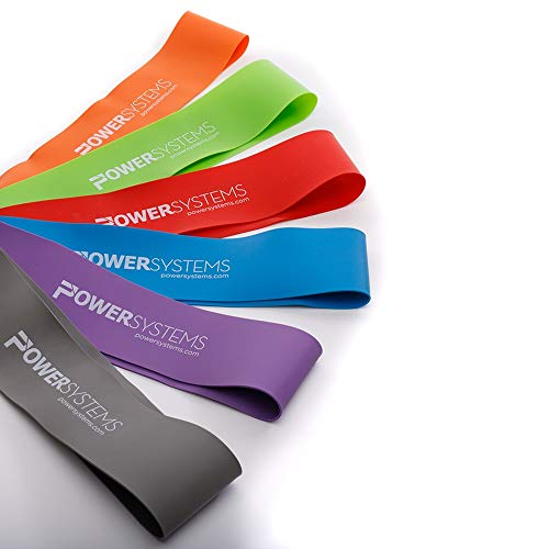 Power Systems Mini Versa-Loop Exercise Band Kit with All Six Resistance Levels