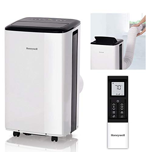 Honeywell Compact Portable Air Conditioner w/Dehumidifier & Fan Cools Rooms Up to 450 Sq.Ft. w/Drain Pan & Insulation Tape, White