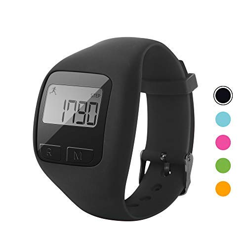 BATAUU Fitness Tracker, 3D Digital Watch Pedometer for Walking & Running, Simply Operation, Accurate Step Counter,Walking Distance Miles & Km, Calorie Counter, Activity Time (Black)