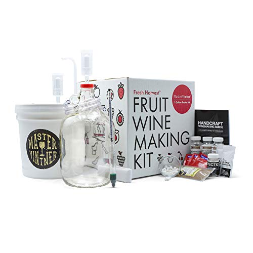 Master Vintner Fresh Harvest One Gallon Small Batch Fruit Wine Making Kit