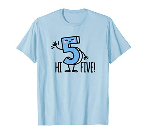 Funny Hi Five! High hand Hello / wave number 5 kids T-Shirt