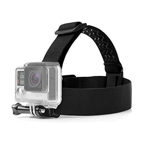 ASOCEA Elastic Adjustable Head Strap Mount Belt Screw Compatible with AKASO EK7000 GoPro Hero 7/6/5/4 Black 4k Campark ODRVM Pictek 12MP 1080p APEMAN Waterproof Action Cameras