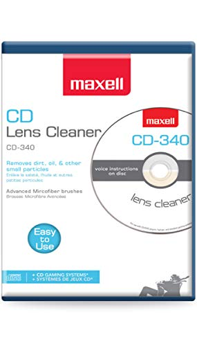 Maxell Safe and Effective Feature CD Player and Game Station Compact Disc Cleaner CD-340 190048 CD/CD-ROM Laser Lens Cleaner - CD Lens Cleaner
