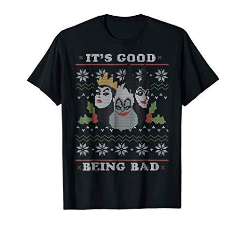 Disney Villains Good Bad Ugly Christmas Sweater T-Shirt