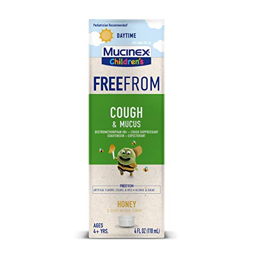Mucinex Children's FreeFrom Cough & Mucus, Symptom Relief, Cough Suppressant and Expectorant, Honey & Berry Natural Flavor, 4 FL OZ