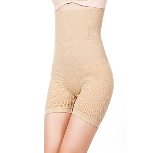 ROBERT MATTHEW Brilliance Women's Shapewear High Waisted Mid-Thigh Boy Shorts (2XL, Nude)