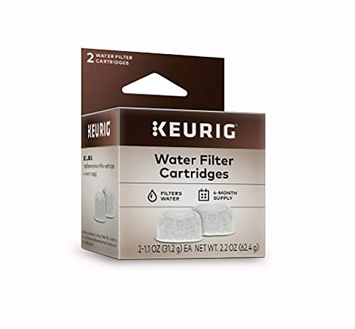 Keurig Water Filter Refill Cartridges, Replacement Water Filter Cartridges, Compatible with 2.0 K-Cup Pod Coffee Makers, 2 Count