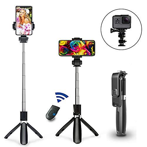 Hangfa Selfie Stick Tripod with Wireless Remote Bluetooth Selfie Stick for iPhone X/XR/XS/8/8 Plus/7/7 Plus,Galaxy S9/S9 Plus/S8/S8 Plus/Note8