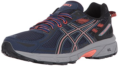 ASICS Women's Gel-Venture 6 Running-Shoes,Indigo Blue/Black/Coral,11 Medium US