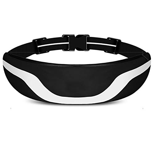 """Sakruda Running Belt,Waist Bag Packs,Waterproof Fanny pack for Man Women Carrying 6.3"""" Iphone with Earphone Jack,Reflective Stripe for Outdoor Hiking,Marathon,Fitness,Stretchy Waist Size Up to 53 Inch"""