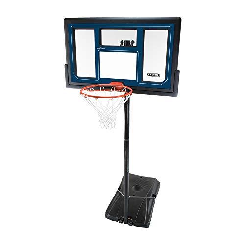 Lifetime 1529 Courtside Height Adjustable Portable Basketball System, 50 Inch Shatterproof Backboard