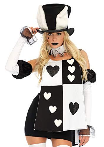 Leg Avenue Women's Costume, Black/White, Large