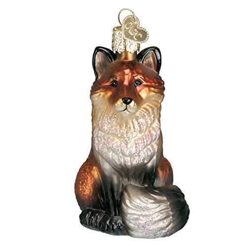 Old World Christmas Wildlife Animals Glass Blown Ornaments for Christmas Tree Fox