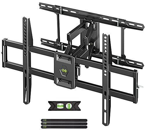 USX MOUNT Full Motion TV Mount for 42'-80' Screen TV Wall Mount Bracket Tilt Swivel TV Mounts with Articulating Arms Max VESA 600x400mm, Weight Capacity 110lbs Up to 24' Wood Stud