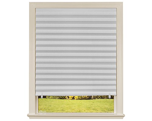 """Original Light Filtering Pleated Paper Shade White, 36"""" x 72"""", 6-Pack"""