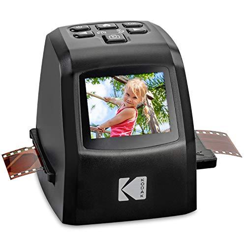 KODAK Mini Digital Film & Slide Scanner – Converts 35mm, 126, 110, Super 8 & 8mm Film Negatives & Slides to 22 Megapixel JPEG Images – Includes - 2.4 LCD Screen – Easy Load Film Adapters