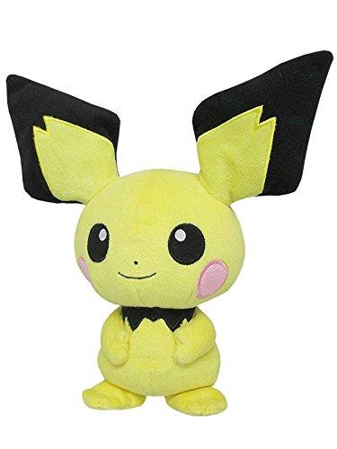 Sanei Pokemon All Star Collection Pichu Stuffed Plush Toy, 8.5'