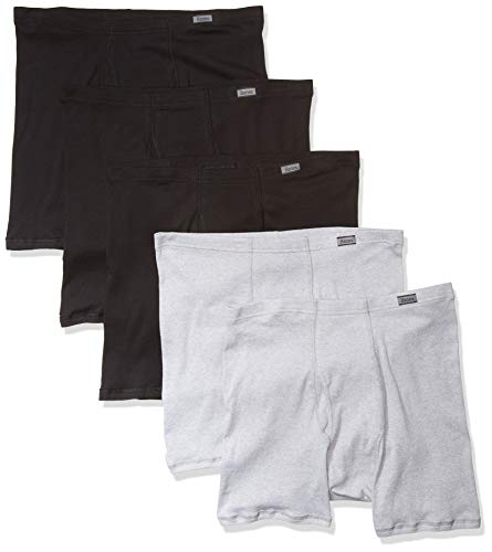Hanes Men's 5-Pack Comfort Soft Boxer Briefs, Assorted, Medium
