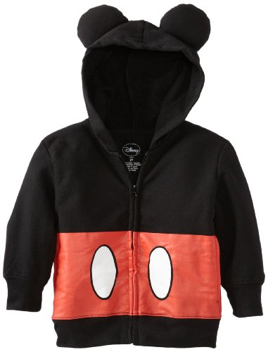 Disney Little Boys' Toddler Mickey Mouse Hoodie, Black, 3T