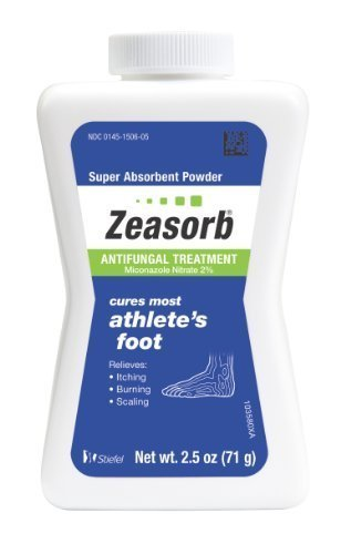Zeasorb Antifungal Treatment Powder, Athletes Foot, 2.5oz (Pack of 4) by Zeasorb