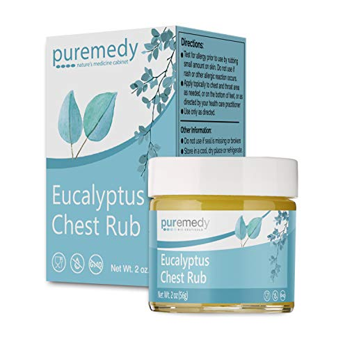 Puremedy Eucalyptus Chest Rub, Homeopathic Remedy to Promote Deep Breathing and Relaxation (2oz)
