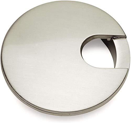 5 Pack - Cosmas 50203SN Satin Nickel 2-1/2' Two Piece Zinc (Metal) Desk Grommet - 3' Overall Diameter