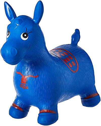AppleRound Blue Horse Hopper, Pump Included (Inflatable Space Hopper, Jumping Horse, Ride-on Bouncy Animal)