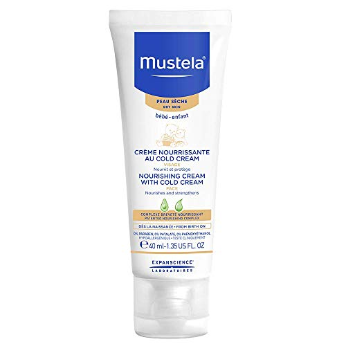 Mustela Nourishing Baby Face Cream with Cold Cream, Ceramides and Natural Avocado Perseose, for Dry Skin, 1.35 Ounce