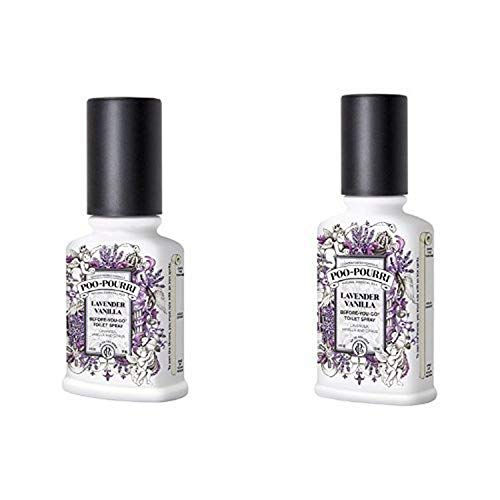 Poo-Pourri Before-You-Go Toilet Spray 2-Piece Set, Includes 2-Ounce and 4-Ounce Bottle, Lavender Vanilla Scent