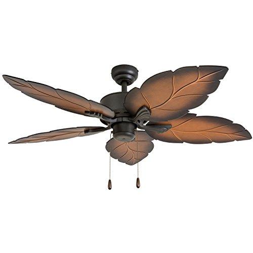 Prominence Home 50571-01 Beauxregard Ceiling Fan, 52', Mocha, Tropical Bronze