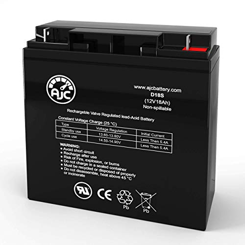 AJC Battery Compatible with Briggs & Stratton B4489GS 12V 18Ah Generator Battery
