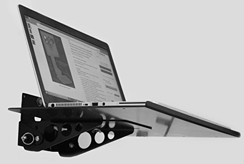 SDS iMount 3.0 Wall or Arm Mount Laptop Tray 12x16 Tray w/Tilt and Fold up, Great for Small Spaces.