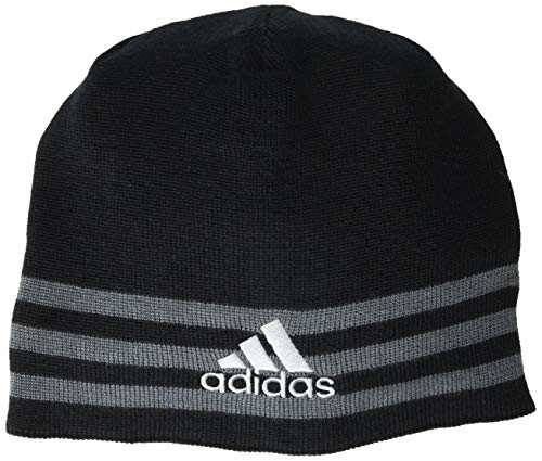 adidas Men's Eclipse Reversible Beanie, Black/Onix/Grey/Black - Onix Marl, ONE SIZE