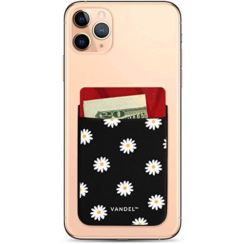 Vandel Pocket – Designer Stick-On Fabric Phone Wallet for Women, Cute Credit Card Holder for Back of Phone and iPhone Case, Stretchy Fabric Adhesive Sleeve for All iPhones and Androids