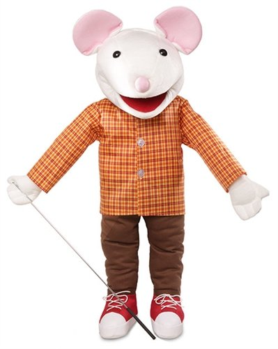 25' Mouse w/ Sneakers, Full Body, Ventriloquist Style, Animal Puppet