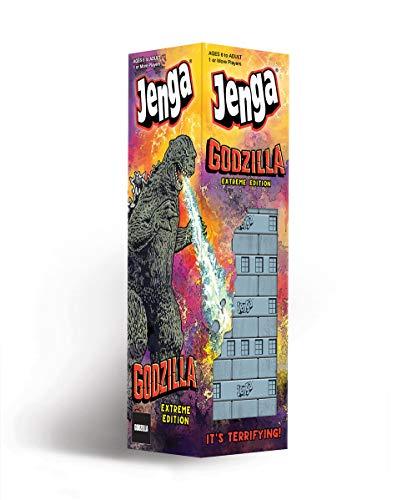 USAOPOLY Jenga: Godzilla Extreme Edition | Based on Classic Monster Movie Franchise Godzilla | Collectible Jenga Game | Unique Gameplay Featuring Movable Godzilla Piece
