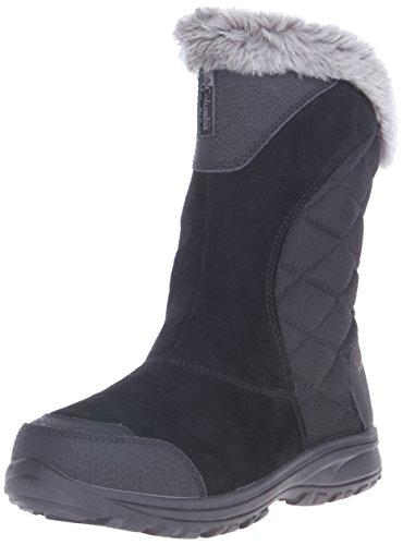 Columbia Women's Ice Maiden II Slip Winter Boot, Black/Shale, 6 M US