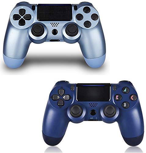 2 Pack Controller for PS4,Wireless Controller for Playstation 4 with Dual Vibration Game Joystick (TBTB)