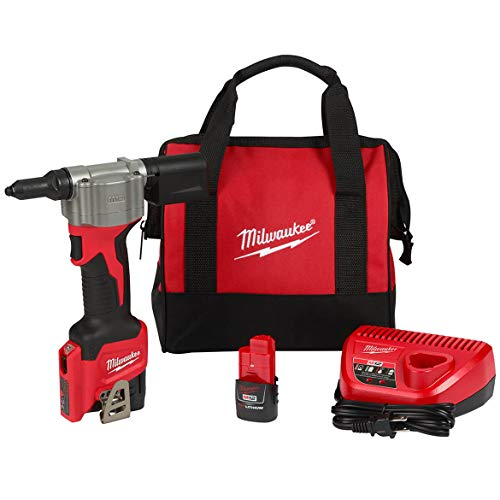 MILWAUKEE ELECTRIC TOOLS CORP 2550-22 M12 Rivet Tool Kit (2550-22)