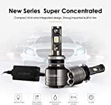 Auxbeam Led Headlights F-T1 Series H7 Led Headlight Bulbs with 2 Pcs of 70W 8000lm LED Chips Conversion Kits Single Beam with Temperature Control