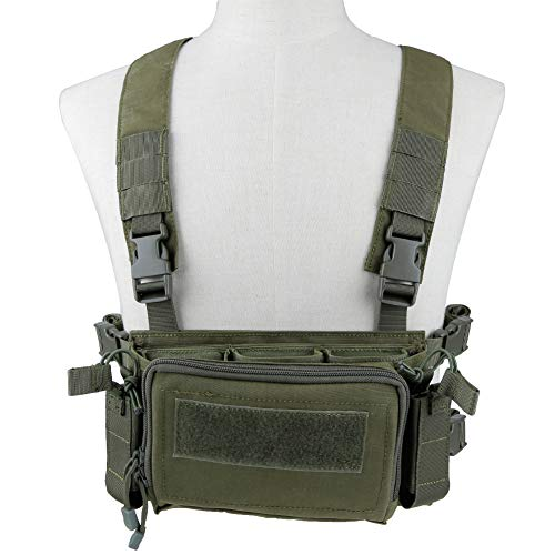 OAREA Camouflage Quick Release Tactical Vest Airsoft Ammo Chest Rig 5.56 9mm Magazine Carrier Combat Tactical Military